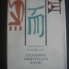 ION BANU - FILOZOFIA ORIENTULUI ANTIC * MESOPOTAMIA, EGIPT, CHINA volumul 1 - Filosofie