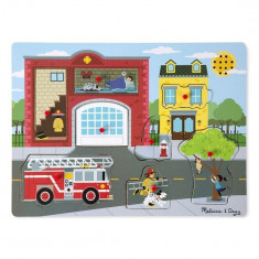 Puzzle Melissa & Doug Cu Sunete Brigada De Pompieri Melissa And Doug