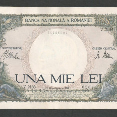 ROMANIA 1000 1.000 LEI 10 septembrie 1941 a UNC [10] aproape necirculata - Bancnota romaneasca