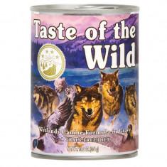 Bax 12 Conserve Taste Of The Wild Wetlands 390 gr. - Mancare caini
