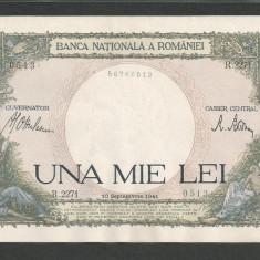 ROMANIA 1000 1.000 LEI 10 sept 1941 XF++ a UNC [13] aproape necirculata - Bancnota romaneasca