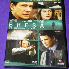 DVD ORIGINAL BRESA DE SECURITATE / BREACH - Film actiune, Romana