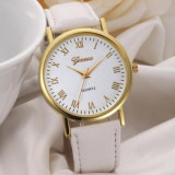 Ceas Dama GENEVA Fashion - Casual , Analog , Quartz, - Curea Alba