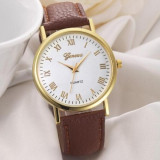 Ceas Dama GENEVA Fashion - Casual , Analog , Quartz, - Curea Maro
