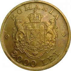 ROMANIA, 2000 LEI 1946 * cod 71 - Moneda Romania, Alama
