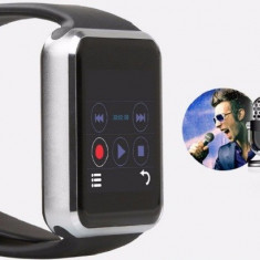 Ceas smart android cu sim, camera, Smartwatch Apple A1 model nou similar GT08, Otel inoxidabil, Android Wear