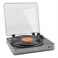 Auna TT-10 gramofon cu BT Bluetooth argintiu