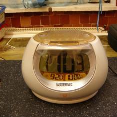 Radio cu ceas Philips AJ3260 /desteptator Rooster /alarma progresiva /dual - Aparat radio Philips, Digital, 0-40 W