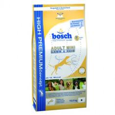 Pachet Bosch Adult Mini Miel si Orez 15 Kg + 3Kg + Galeata - Mancare caini