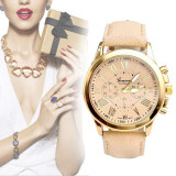 Ceas Dama Fashion GENEVA -  Curea Imitatie Piele , Analog, Quartz