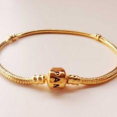Bratara PANDORA GOLD placata cu aur 14k - 20cm - Bratara placate cu aur pandora, Femei
