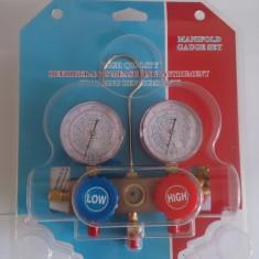 Baterie profesionala cu 2 ceasuri freon R134A, R410A, R22, R404 + cuple auto