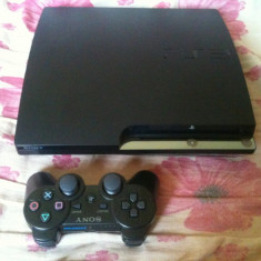 Consola-Ps3-PlayStation 3 Sony-slim modat+multe jocuri -gta 5, fifa 17-etc