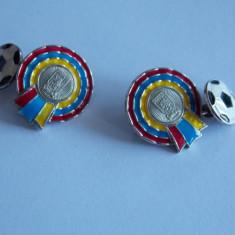 Butoni din argint -club de fotbal Aston Vila -713