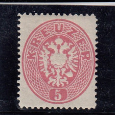 AUSTRIA 1866/70, MI 26, MNH, Nestampilat