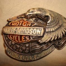 Pafta/Catarama HARLEY DAVIDSON pentru centura/curea/moto/motor/colectie/vintage - Curea Barbati Harley-davidson, Marime: Marime universala, Culoare: Din imagine