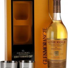 Glenmorangie 10 Ani Cu 2 Pahare Metalice 0.7L - Whisky