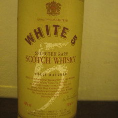 Whisky WHITE 5, select rare scotch whisy, fully matured, cl 70 gr 40