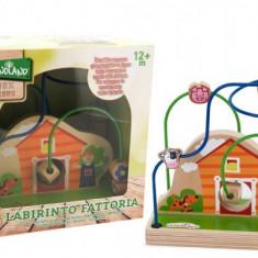 Jucarie Labirint Din Lemn Globo Legnoland 37097 Pentru Bebelusi In Forma De Casuta