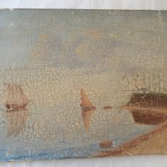 Marina pictura veche, Marine, Ulei, Impresionism