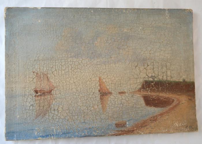 Marina pictura veche