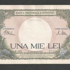 ROMANIA 1000 1.000 LEI 10 septembrie 1941 a UNC [12] aproape necirculata - Bancnota romaneasca