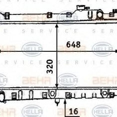 Radiator, racire motor MAZDA MX-5  1.6 - HELLA 8MK 376 707-541 - Radiator racire LuK