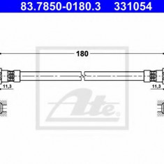 Furtun frana BMW 3 Touring 325 i - ATE 83.7850-0180.3