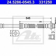 Furtun frana MITSUBISHI CEDIA limuzina 1.3 - ATE 24.5286-0545.3, REINZ
