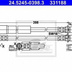 Furtun frana FORD TRANSIT bus 2.0 i - ATE 24.5245-0398.3, REINZ