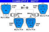 Placute frana AUDI 100 limuzina S4 Turbo quattro - ATE 13.0460-2717.2, REINZ