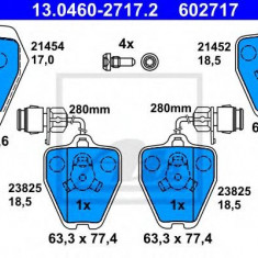 Placute frana REINZ AUDI 100 limuzina S4 Turbo quattro - ATE 13.0460-2717.2
