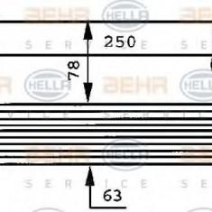 Radiator ulei, ulei motor MERCEDES-BENZ NG 1213 S - HELLA 8MO 376 725-011 - Radiator auto ulei