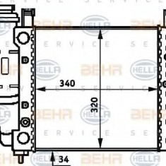 Radiator, racire motor FIAT UNO 45 1.0 - HELLA 8MK 376 716-711 - Radiator racire LuK