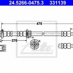 Furtun frana NISSAN SENTRA II hatchback 1.5 - ATE 24.5266-0475.3, REINZ