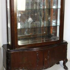 Vitrina Stil Florentin din lemn masiv; Biblioteca; Dulap; Servanta, Comode si bufete, 1900 - 1949