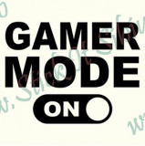Gamer Mode_Stickere Laptop - Tableta_Cod: DIV-170_Dim: 15 cm. x 11.2 cm.