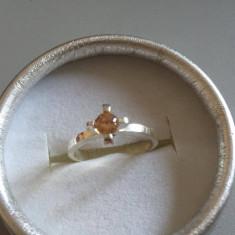 INEL ARGINT finut -pietrica culoarea citrin