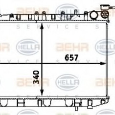 Radiator, racire motor NISSAN PRIMERA Break 1.6 i - HELLA 8MK 376 718-501 - Radiator racire LuK