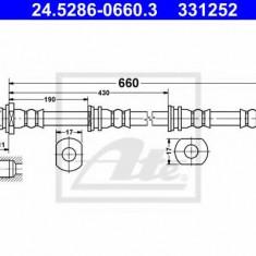 Furtun frana REINZ MITSUBISHI SHOGUN IV 3.2 DI-D 4WD - ATE 24.5286-0660.3
