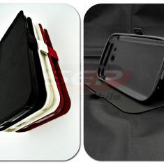 Toc FlipCover Stand Magnet Sony Xperia M4 Aqua NEGRU - Husa Telefon, Plastic, Cu clapeta, Husa