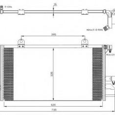 Condensator, climatizare AUDI 90 1.9 TD - NRF 35247