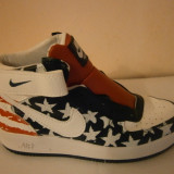 GHEATA NIKE AIR FORCE ONE AMERICA LICHIDARE STOC 37, 38, 40 - Ghete dama, Culoare: Din imagine