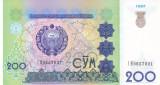 Bancnota Uzbekistan 200 Sum 1997 - P80 UNC