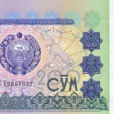 Bancnota Uzbekistan 200 Sum 1997 - P80 UNC - bancnota asia