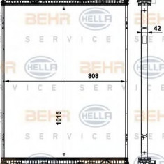 Radiator, racire motor - HELLA 8MK 376 737-051 - Radiator racire LuK