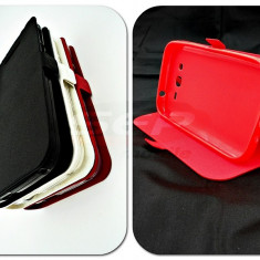 Toc FlipCover Stand Magnet Orange Nura ROSU - Husa Telefon, Plastic, Cu clapeta, Husa