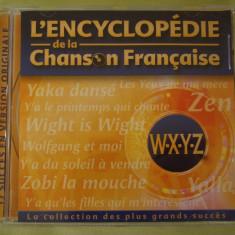 ENCICLOPEDIA CANTECULUI FRANCEZ Litera W-X-Y-Z - C D Original ca NOU - Muzica Pop universal records