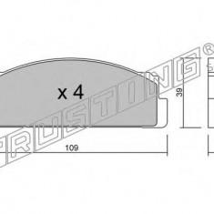 Placute frana INA FIAT 127 0.9 - TRUSTING 001.0