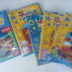 DVD MAGIC ENGLISH DISNEY VOLUMUL  2,3,4,7,9,14 .FARA ZGARIETURI PE DVD !!, Romana, disney pictures
